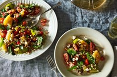 Tomato Salad with Grilled Corn, Feta, and Hazelnuts recipe on Food52