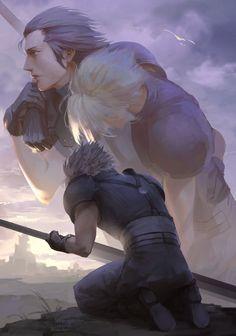 Zack and cloud remake Final Fantasy Vii Remake, Final Fantasy Cloud, Final Fantasy Characters, Fantasy Series, Fantasy World, Fantasy Art, Mortal Kombat, Final Fantasy Collection, Naruto