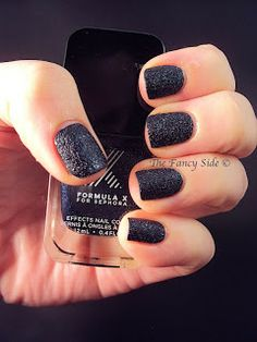 Sephora Formula X in Galaxy - my current nail polis; I love the textures navy blue glitter.