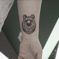 Geometric Bear Tattoo