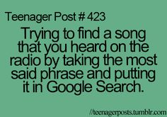 Before the days of smart phones and Sound Hound, I did this all the time.