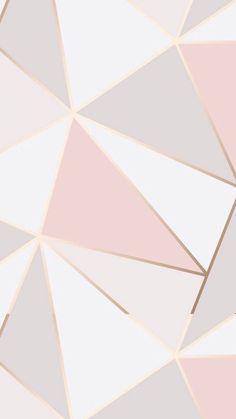 Rose gold wallpaper, pink wallpaper iphone y gold wallpaper. Geometric Wallpaper Iphone, Marble Wallpaper Phone, Rose Gold Wallpaper, New Wallpaper Iphone, Trendy Wallpaper, Iphone Backgrounds, Pattern Wallpaper, Wallpaper Backgrounds, Wallpaper Quotes