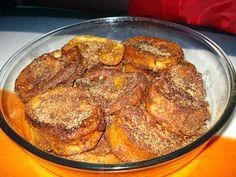 La meilleure recette de Rabanadas à portugaise(Pain perdu)! L'essayer, c'est l'adopter! 4.3/5 (10 votes), 12 Commentaires. Ingrédients: 1 baguette de pain,5 oeufs,1/2 l de lait,cannelle en bâton,cannelle en poudre,1 citron épluché,huile pour la friture.