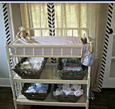 Jenny Lind style baby diaper changing table