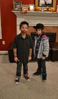 Adam Levine and Justin Bieber Halloween Costume #kids #boys #cute