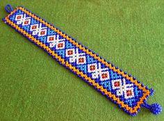 Mexican Huichol Beaded butterfly bracelet by Aramara on Etsy Seed Bead Bracelets, Seed Beads, Loom Beading, Beading Patterns, Beard Jewelry, Butterfly Bracelet, Mexican Designs, Bead Weaving, Beaded Embroidery