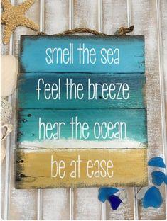 DIY Ocean Sign... be at ease