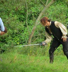 New photo of Sam Heughan filming Season Two of '#Outlander! (Source: @BarneysworldUK) #SamHeughan