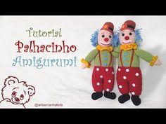 PALHACINHO AMIGURUMI - PARTE 01 - YouTube Amigurumi Toys, Amigurumi Patterns, Crochet Patterns, Clowns, Crochet Videos, Crochet Dolls, Free Pattern, Diy And Crafts, Creations