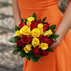 Order Royal Bridesmaid Rose Bouquets with Red and Yellow Roses ...