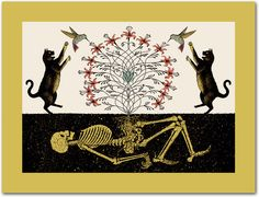 """""""SYMBIOSIS"""" by Dan McCarthy  2007 Screen Print  Signed & Numbered Limited Edition of 350"""