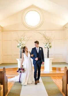 Simple and elegant church wedding decor for indoor ceremony at Hawthorne House photographed by Sarah Rieth Photography near Kansas City Church Wedding Ceremony, Church Wedding Decorations, Indoor Ceremony, Hawthorne House, Kansas City, Elegant, Wedding Dresses, Simple, Photography