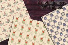 DIGITAL PAPERS Art nouveau 2. Printable digital download | Etsy Art Nouveau, Paper Pocket, Handwritten Letters, Printed Pages, Envelope Liners, Collage Sheet, Scrapbooking, Design Elements, Scrapbooks