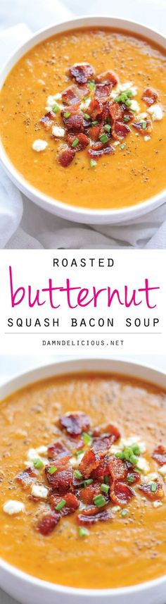 This is by far the best butternut squash soup ever, with the help of those crisp bacon bits blended right into the soup! I hope it's not too late to still enjoy a piping hot bowl of the coziest...