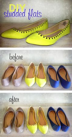 Studded stuff is so hot right now! My sisters and I decided to do our own studded flats. You will be amazed at how easy and cheap it is! It was so much fun and is a great activity for a girls night...