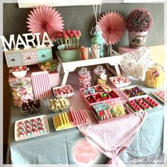 Party Table Baby Candy Bars Ideas For 2019 Candy Table, Candy Buffet, Deco Candy Bar, Candy Bar Comunion, Bar A Bonbon, Baby Candy, Party Drinks Alcohol, Sweet Bar, Barbie Birthday