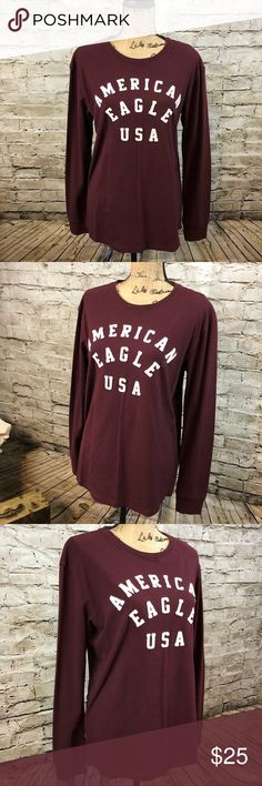 AMERICAN EAGLE OUTFITTERS •Active Flex Long Sleeve AMERICAN EAGLE OUTFITTERS • Active Flex Long Sleeve  Super stretchy  Very soft  Curved hem on the bottom  Pit to pit is 20.5 inches flat across  Shoulder length down to the bottom is 27 inches  New with tags   This is a guys top but it can be worn by a woman too.  It is great from the gym, weekend errands around, a walk or just a lazy Sunday on the couch with some sweat pants and the TV clicker American Eagle Outfitters Shirts Tees - Long…