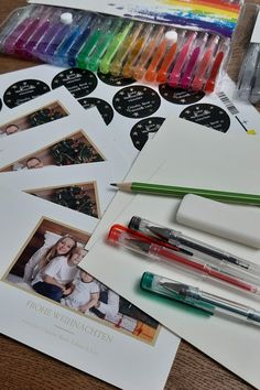 Weihnachtskarten hübsch versenden in Handletter Briefumschläge Diy Weihnachten, Creative, Custom Holiday Cards, Upcycling, Diys