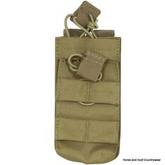 Viper Single Duo Mag Pouch - Coyote The Viper Duo Mag Pouch enables the user to stock magazines on most MOLLE panels The 600D Cordura enhances the smooth functionality