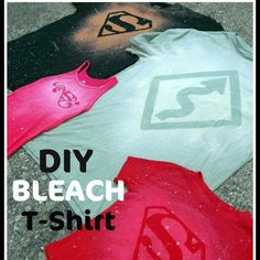 DIY T-Shirt & Bleach pin project www.sixsistersstuff.com This looks really fun!