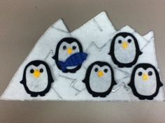 5 Baby Penguins #storytime #flannelboard #flannelfriday #counting #penguins