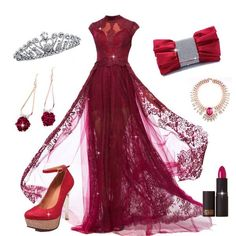 Would u love this gorgeous evening dress? #PromDress #PartyDress #Earrings #Necklace #valentinesgift #Fashion
