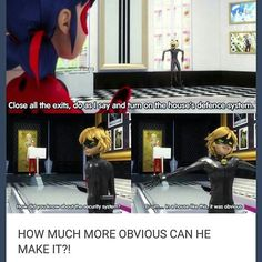 Does anyone else think Adrien's  father is on to him cuz of the way he looked at the ring and the book being in his safe