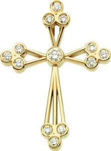 Beautiful gold christian jewelry and cross pendants .