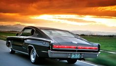 66 Dodge Charger. I happened to be behind one of these one day and the sound was awesome.