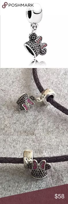 Authentic Pandora Minnie Mouse ear charm nwot Authentic Pandora Minnie Mouse ear charm nwot Pandora Jewelry