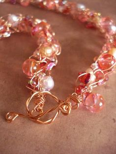 The Beading Gem's Journal: How to Make a Toggle Clasp with Twisted Wire