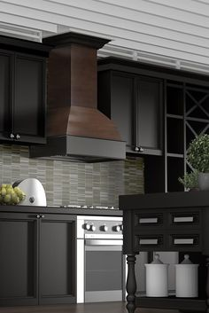 Featuring A ZLINE Kitchen 369AW Craftsman Wall Mount Wood Range Hood. It  Has A Solid