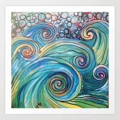 Riding the Waves Art Print by Lacy Ringo - $13.52