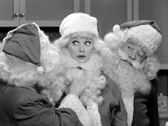 santa lucy from the 1956 christmas episode of i love - I Love Lucy Christmas