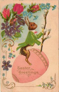 Old Easter Post Card — Easter Greetings  (546x850)