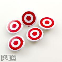 Target Logo Advertising Buttons - Promotional Buttons