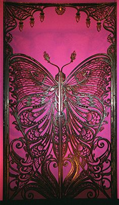 Art Nouveau Butterfly Gate c. 1900 by Emile Robert (1860-1924) Wrought iron Brooklyn Museum of Art, New York
