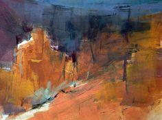 Dawn Emerson monotype Canyon