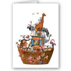 Animals Noah's Ark - Greeting Card, made by dutch illustrator Ans Collijn