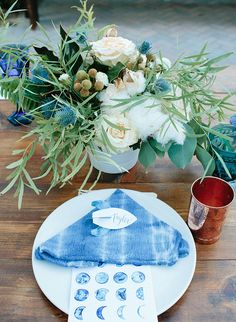 How beautiful! | Indigo 'Over The Moon' Baby Shower - Inspired by This