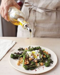 Crispy Broccoli Rabe, Chickpea, and Fresh Ricotta Salad - 26 New Ways To Eat Chickpeas