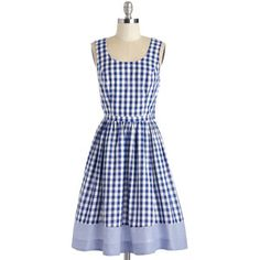 Bea & Dot Americana Mid-length Sleeveless Fit & Flare As Potluck Would Have It Dress