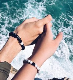 Black and White Distance Bracelets