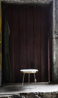 Richarm Table 01   Arabescato + Metal (Gold, H:300) marble table. metal table #furniture #design #marble #marbletable #metal #sidetable www.richarmgroup.com