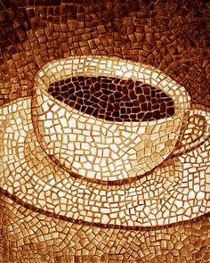 #Coffee art #mosaic ToniK  ☕Coffee♥Craft☕ Angela  Andy Sarkela Saur