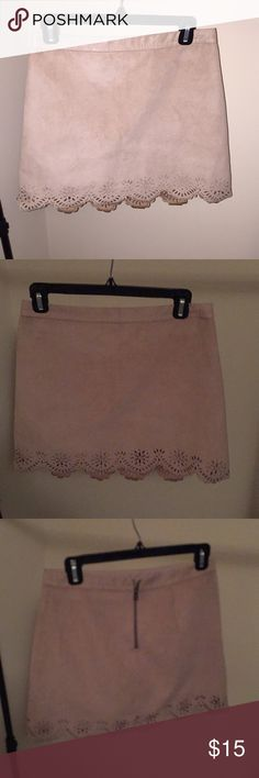 Hollister Faux Suede Skirt Tan/Brown Size 5 by hollister sizing which is a 27/4 Faux Suede Hollister Skirts Mini