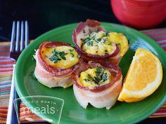 Simple Paleo Egg Cups recipe #freezercooking #paleo #breakfast