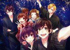 Anime Love Couple, Cute Anime Couples, Couple Aesthetic, Aesthetic Anime, Anime Kiss, Manga Anime, Koi, Zutto Mae Kara, Honey Works