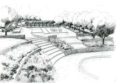Cheap Landscaping Near Me Landscape Architecture Drawing, Landscape Sketch, Landscape Concept, Garden Landscape Design, Classical Architecture, Ancient Architecture, Sustainable Architecture, Urban Landscape, Dwarf Evergreen Trees