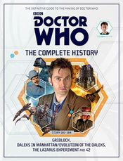 From My Bookshelf 2015: My review of Doctor Who: The Complete History, Vol 55 - Stories 181-134: Gridlock, Daleks In Manhattan/Evolution of the Daleks, The Lazarus Experiment and 42 by John Ainsworth, from Panini/Hachette Partworks, 2015
